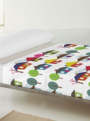 Little W Juego de Sábanas 2 piezas Happy Homes (Multicolor)