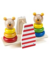 Wooden Wonders Balancing Bears Stacking See Saw By Imagination Generation