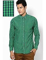 Green Checks Casual Shirts John Players