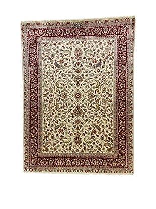 L'Eden del Tappeto Teppich Kashmirian F/Seta ecru/braun/blau 239t x t174 cm