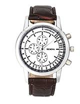 2016 Men Business Leisure Tache Design Dial PU Leather Band Analog Quartz Wrist Watch
