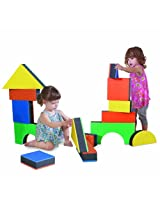 "Edushape 2.5"" Jumbo Textured Blocks, Set of 32 toys"