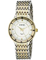 August Steiner Women's AS8178TTG Analog Display Japanese Quartz Two Tone Watch