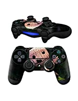 Action And Adventure Pair Of Vinyl Decal Controller Sticker Skins For Ps4 (Little Earth Sackboy Yarn)