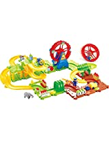 Saffire Ferris Wheel Train Set with Upper and Lower Level, Bridges and Tunnel