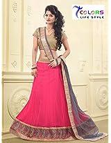 7 Colors Lifestyle Womens Net Lehenga Choli (Aatlh2004Rjga _Pink _Free Size)