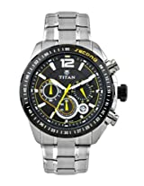 Titan Octane Analog Black Dial Men's Watch - 9447KM02J
