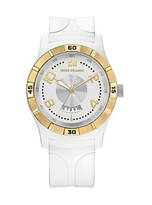 Boss Orange 1502249 - Reloj de Señora movimiento de quarzo con correa de caucho blanca