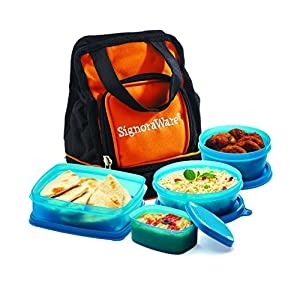 Signoraware Carry Lunch Box with Bag, T Blue