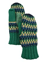 Isotoner Women's Signature Casual Striped Knit Mittens (OS, Blue/Teal)