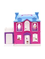 "Toy Zone Luxurious Villa Doll House Set - Dimensions : 12.25"" H x 5"" W x 15.25"" L"