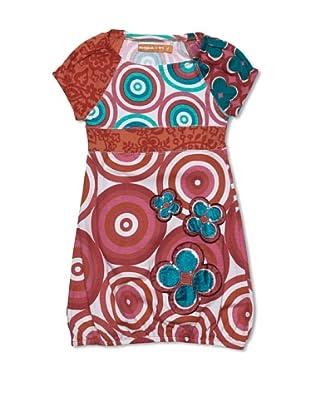Desigual Vestido Oklahoma (Granate / Blanco)