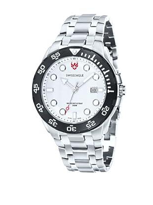 Swiss Eagle Uhr mit Schweizer Quarzuhrwerk Dive silberfarben 46 mm