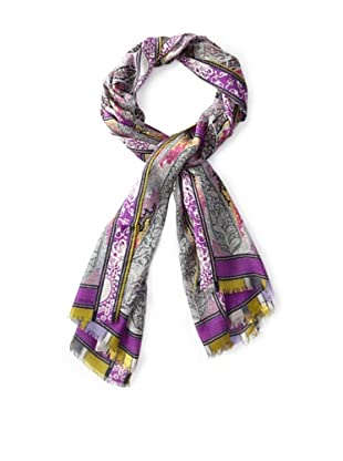 Etro Women's Abstract Paisley Printed Scarf, Purple Multi
