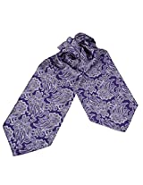 ERA1B06A Purple Grey Paisley Shandmade Contemporary Cravat Woven Microfiber Ascot for Mens Bridegrooms Presents By Epoint