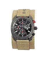 Converse Bosey Culture Military Chronograph Black Dial Tan Nylon Men'S Watch