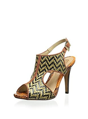 Schutz Women's Woven Sandal (Tribal/Brown)