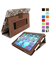 Snugg Leather Case with Flip Stand for Apple iPad 3/4 (Digital Camo)