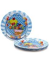 Karmallys Paper Plates Happy Birthday Pastry Print - 22 cm