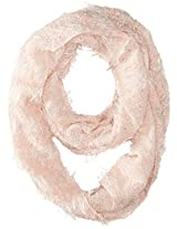 D&Y Women's Mixed Boucle Yarn and Feather Infinity Scarf