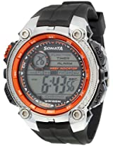 Sonata Digital Black Dial Men's Watch - 7993PP02
