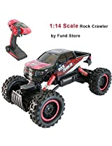 Cdgyot Rock Crawler 1:14 Scale Radio Control 4x4 Wheel Drive Monster Truck Off Road Vehicle 100 M Distant Range 2.4 G Radio Remote Control Rc Toy