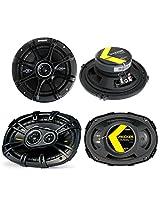 """2) Kicker 41DSC654 6.5"""" 240W 2-Way + 2) 40CS6934 6x9"""" 450W 3-Way Car Speakers"""