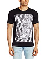 V Dot Men's Cotton T-Shirt