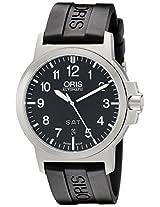 Oris Men's 73576414164RS BC3 Rubber Strap Black Dial Watch