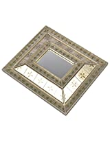 NRS Metal Wall Hanging Console Mirror (12 cm x 16 cm)