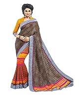 Multi Color Art Bhagalpur Silk Saree with Blouse 11328
