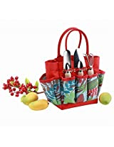 Canvas Tote With Front & Side Pockets Garden Tool Set