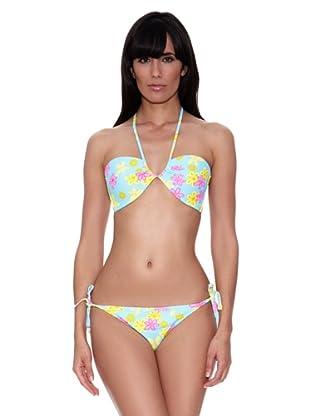 Bikini Flora (Turquesa)