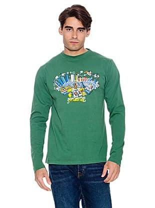 Kukuxumusu Camiseta Skyline Madrid (Verde)