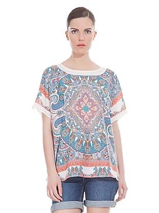 Cortefiel Camiseta Top Print Flores (Multicolor)