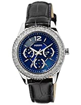 Fossil End of Season Stella Analog Blue Dial Women Watch - ES3681I