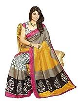 TrendzStyle Awesome Bhagalpuri saree with Blouse piece