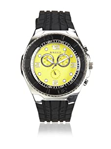 Breed Men's Rogue Black/Yellow Polyurethane Watch