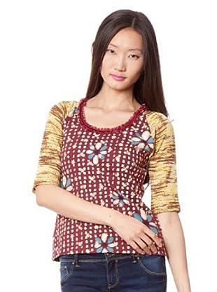 Custo Camiseta (Granate / Beige)