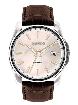 K&BROS 9474-4 / Reloj de Caballero  con correa de piel Marrón