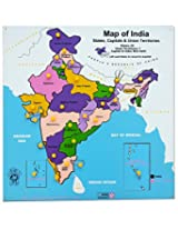 Skillofun Wooden Map Of India - Multicolour