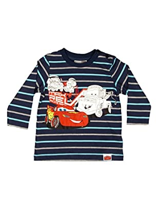 Disney Camiseta Manga Larga Niño Cars (Azul)