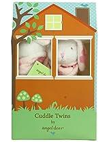Angel Dear Cuddle Twin Set, Flower Print Bunny