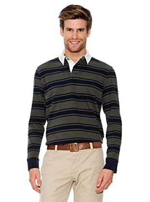Dockers Polo Tipo Rugby (azul / verde)