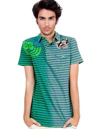 Custo Poloshirt (violett/grün)