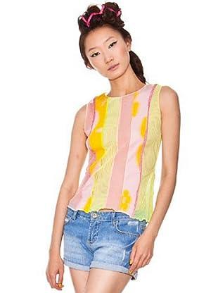 Custo Camiseta (Amarillo/Rosa)