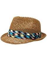 San Diego Hat Co. Men's Paper with Plaid Band