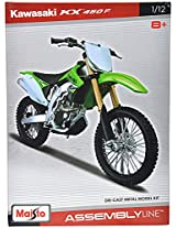 Maisto Kawasaki KX 450F Assembly Line Scale-1:12 Die Cast Toy Motorcycle (Green)