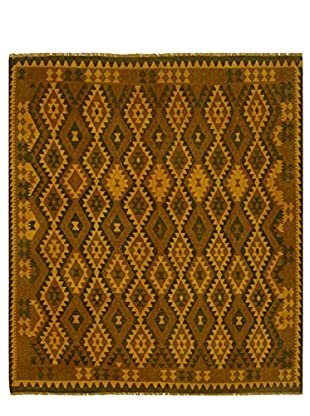 nuLOOM One-of-a-Kind Hand-Knotted Vintage Overdyed Kilim Rug, Gold, 8' 5