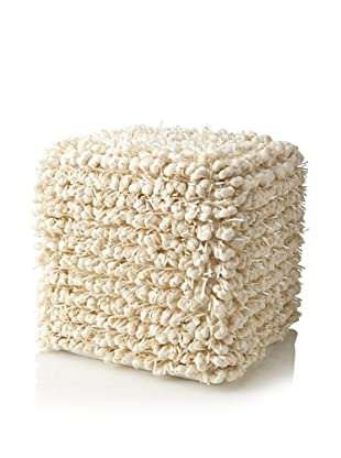 Design Accents Funberry Pouf, Ivory, 18